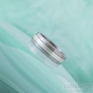 Duori Klasik Silver - 56, šířka 6,1 mm, tloušťka 2 mm - Nerezový snubní prsten a stříbro - SK2333 (3)