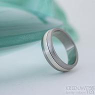 Duori Klasik Silver - 56, šířka 6,1 mm, tloušťka 2 mm - Nerezový snubní prsten a stříbro - SK2333