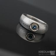 Eli a topaz 3 mm do Ag - Damasteel zásnubní prsten sk1277 (6)