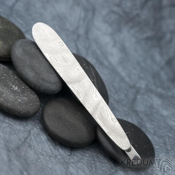 Eliot - Kovaná spona na kravatu damasteel