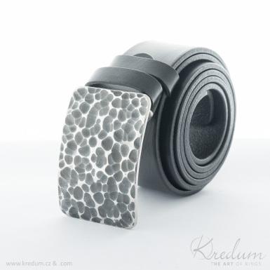 Kovaná nerez spona - Mistr 4X - Draill + kožený pásek 4X - SK4133