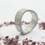 FOREVER Draill matný - Kovaný nerezový snubní prsten - velikost 63,5 šířka materiálu 7 mm, šířka vlny celkem 10 mm - produkt SK2353