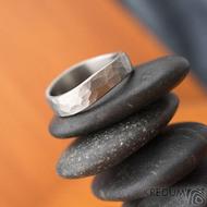 Forever draill titan - velikost 54, šířka 4,5 mm, vlny 6 mm, tloušťka 1,5mm - matný - Titanové snubní prsteny - sk1830 (4)