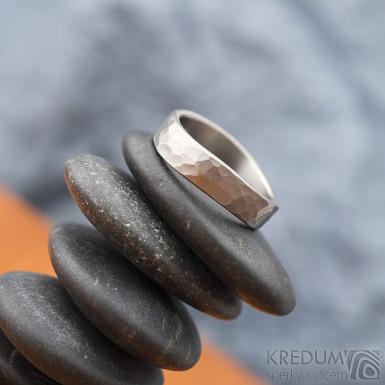 Forever draill titan - velikost 54, šířka 4,5 mm, vlny 6 mm, tloušťka 1,5mm - matný - Titanové snubní prsteny - sk1830 (3)