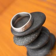 Forever draill titan - velikost 54, šířka 4,5 mm, vlny 6 mm, tloušťka 1,5mm - matný - Titanové snubní prsteny - sk1830 (5)