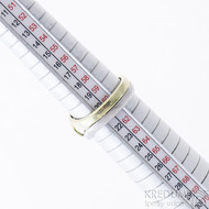 Gemini Ring - zlatý a damasteel prsten velikost 62 - SK2393