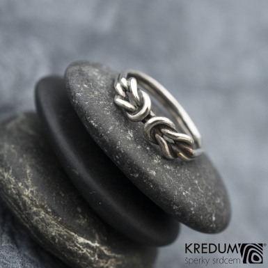Gemini Silver Patina - Stříbrný prsten, SK1602