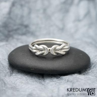 Twins White - Zlatý snubní prsten
