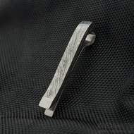GLINT - Kovaná spona na kravatu damasteel, struktura voda, lept zatmavený - produkt SK3063