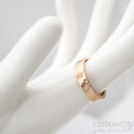 Golden draill matný - velikost 53,5, šířka 4,5 mm, tloušťka 1,4 mm - Zlatý snubní prsten -  sk1765 (4)