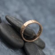 Golden draill matný - velikost 53,5, šířka 4,5 mm, tloušťka 1,4 mm - Zlatý snubní prsten -  sk1765 (2)
