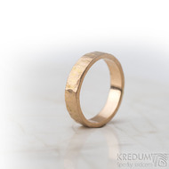 Golden draill matný - velikost 53,5, šířka 4,5 mm, tloušťka 1,4 mm - Zlatý snubní prsten -  sk1765 (5)