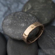 Golden draill matný - velikost 53,5, šířka 4,5 mm, tloušťka 1,4 mm - Zlatý snubní prsten -  sk1765 (3)