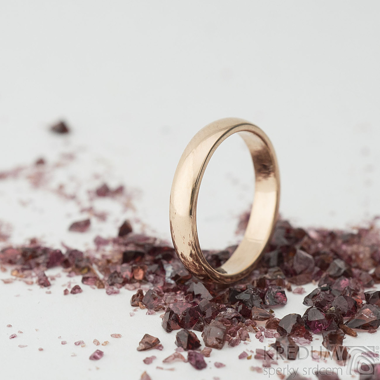 Klasik Gold Red Zlaty Snubni Prsten Vyroba Hand Made Snubni