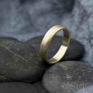 Golden klasik yellow - velikost 54, šířka 4 mm, tloušťka 1,3 mm, profil B - zlaté snubní prsteny - sk1766 (4)
