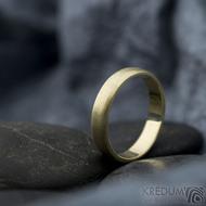 Golden klasik yellow - velikost 54, šířka 4 mm, tloušťka 1,3 mm, profil B - zlaté snubní prsteny - sk1766 (3)
