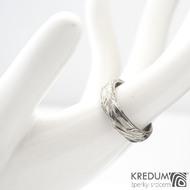 Gordik - Motaný snubní prsten nerezový, SK1329