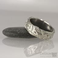 Motaný snubní prsten nerezový - Gordik