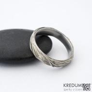 Gordik - Motaný nerezový snubní prsten, SK1330