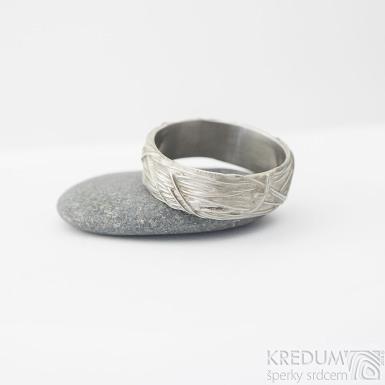 Gordik - velikost 63, šířka cca 7 mm - Motaný snubní prsten nerezový, SK2238 (2)