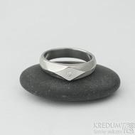 Grada a čirý diamant 1,5 mm - 51, šířka hlavy 5 mm do dlaně 4 mm, struktura dřevo 75% SV - Damasteel zásnubní prsteny - k 2030 (2)