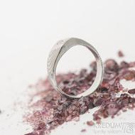 Hendi a čirý diamant 2,3 mm - 52, šířka 4 mm hlava 7 mm, dřevo 75% světlý - Damasteel zásnubní prsten - sk2513 (3)