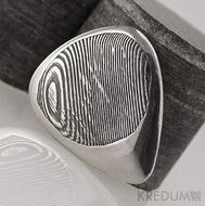 Hitmaker - dřevo, zatmavené - trsátko z oceli damasteel