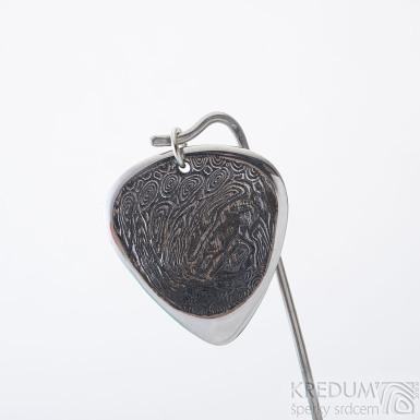 HITMAKER s očkem, zatmavené - trsátko z oceli damasteel, SK2405 (2)