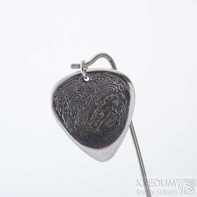 HITMAKER s očkem - voda - trsátko z oceli damasteel, SK2405