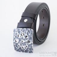 Hole - Kovaná nerez spona a kožený opasek 3,5 cm, SK2487 (4)