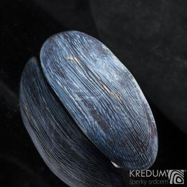Buk modrý drásaný - Ručně vyrobená dřevěná spona, produkt č. 2197
