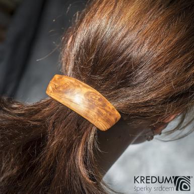 Jabloňová - Ručně vyrobená dřevěná spona, SK1509