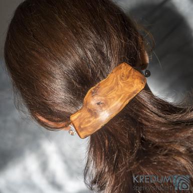 Jabloňová - Ručně vyrobená dřevěná spona, SK1513