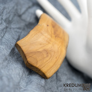 Jabloňová - Ručně vyrobená dřevěná spona, SK1517 (2)