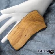 Jabloňová - Ručně vyrobená dřevěná spona, SK1517 (3)