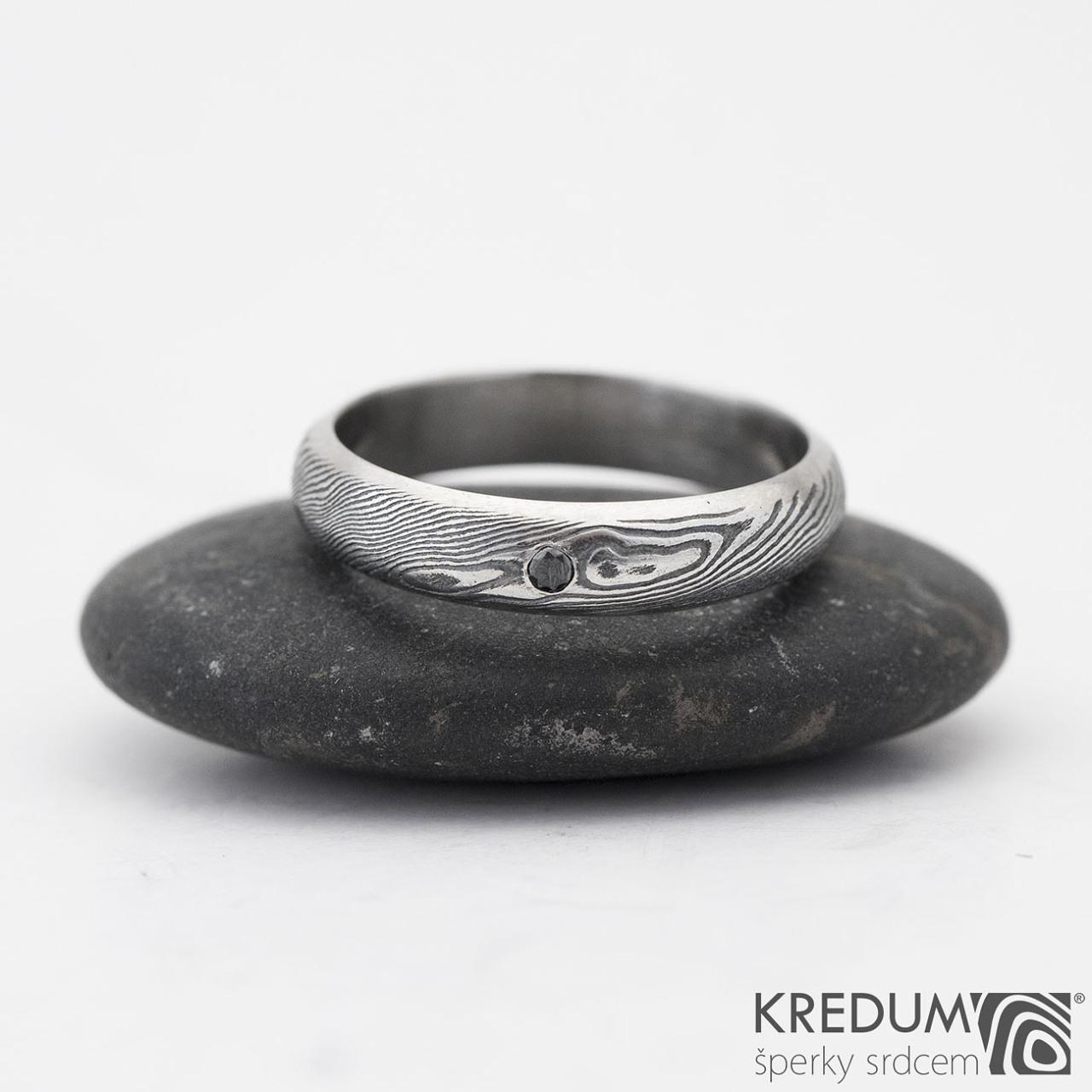 Prima Line A Cerny Diamant 1 7 Mm Snubni Prsten Kovana Nerezova