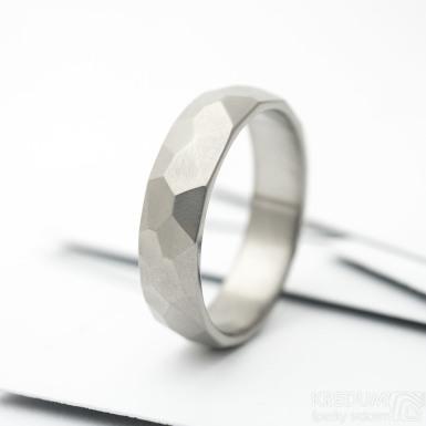 Skalák titan - Titanový snubní prsten - lesklý