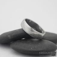 Kasiopea steel - damasteel snubní prsteny, 58 5,5 mm 1,5, 50% sv k 0945  (3)