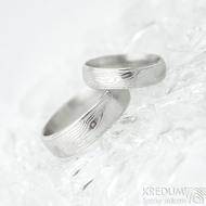 Kasiopea Steel dřevo 75% SV, profil E - velikost 49, šířka 4,5 mm a 58, šířka 6 mm - Samasteel snubní prsteny - et 1753 (2)