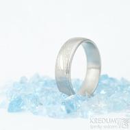 Kasiopea Steel dřevo 75% SV, profil E - velikost 58, šířka 6 mm - Samasteel snubní prsteny - et 1753
