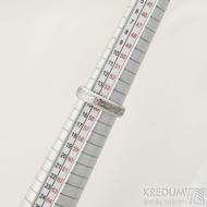 Kasiopea Steel, dřevo - velikost 55, šířka 4,8 mm, tloušťka 1,7 mm, 75% světlý, profil B - Kovaný snubní prsten - SK2218 (4)