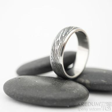 Kasiopea Steel - voda - Kovaný snubní prsten, SK1857