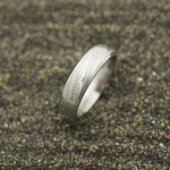 Kasiopea Steel, voda světlá - 53 CF, šířka 5,1 mm, tloušťka 1,6 mm - Kovaný snubní prsten, SK2980 (2)