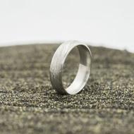 Kasiopea Steel, voda světlá - 53 CF, šířka 5,1 mm, tloušťka 1,6 mm - Kovaný snubní prsten, SK2980 (5)