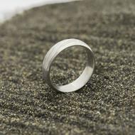 Kasiopea Steel, voda světlá - 53 CF, šířka 5,1 mm, tloušťka 1,6 mm - Kovaný snubní prsten, SK2980 (3)