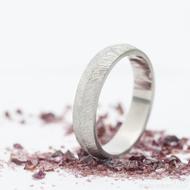 Klásek - Kovaný nerezový snubní prsten - velikost 64, šířka 5 mm, tloušťka stěny 1,8 mm, profil B - produkt SK2721