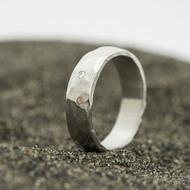 Klasik draill a čirý diamant 1,7 mm - 53, šířka 5,2 mm, tloušťka 1,7 mm, povrch lesklý - kovaný snubní prsten - sk2981 (2)