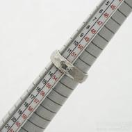Klasik draill a čirý diamant 1,7 mm - 53, šířka 5,2 mm, tloušťka 1,7 mm, povrch lesklý - kovaný snubní prsten - sk2981 (4)