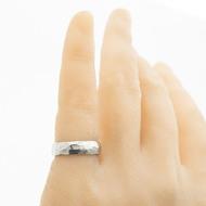 Klasik draill a čirý diamant 1,7 mm - 53, šířka 5,2 mm, tloušťka 1,7 mm, povrch lesklý - kovaný snubní prsten - sk2981 (5)