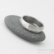 Klasik draill a moissait 2 mm do Ag - 50, šířka 4,5 mm, matný - Nerezové snubní prsteny
